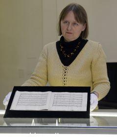 Rukopis skladby Per la ricuperata salute di Ophelia, foto: ČTK