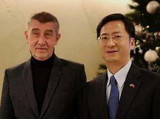 Andrej Babiš y Zhang Jianmin, fuente: Embajada China en la RCh