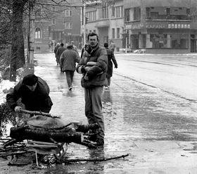 Sarajevo, 1992, photo: Christian Maréchal, CC BY 3.0