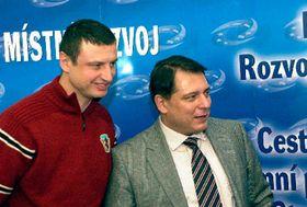 Йиржи Брожек (налево) и министр Йиржи Пароубек (Фото: ЧТК)