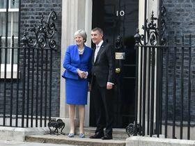 Theresa May, Andrej Babiš, photo: Jaromír Marek / Czech Radio
