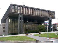 Le bâtiment de Radio Europe libre à Prague