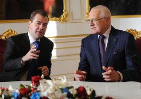 Dmitry Medvedev, Václav Klaus, photo: Filip Jandourek