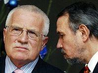 Václav Klaus et Petr Hájek
