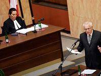Václav Klaus u Ústavního soudu, foto: ČTK