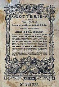 Un billet de lotería de Austria-Hungría