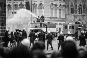 Noviembre de 1989 en Praga, foto: Jan Šibík