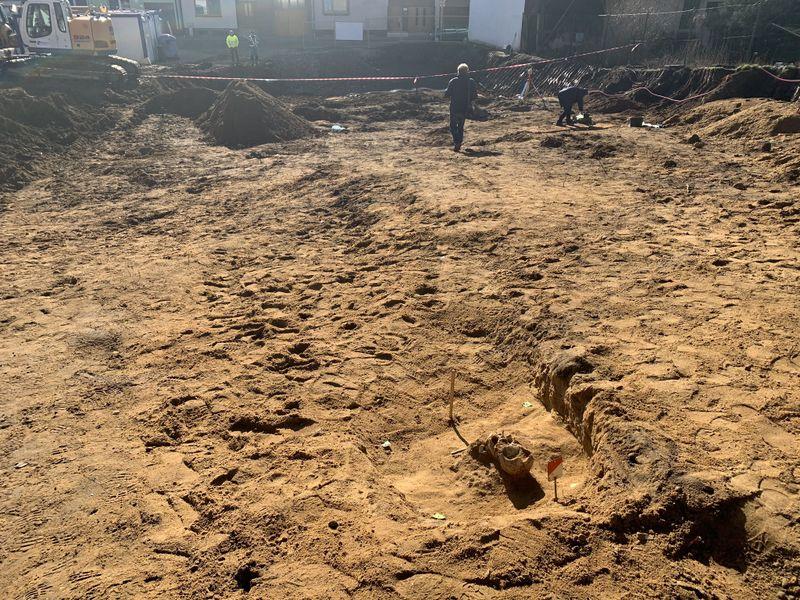 Sept tombes datant de l'époque du royaume de la Grande-Moravie ont été récemment découvertes à Staré Město, près de la ville d'Uherské Hradiště, photo: ČT24