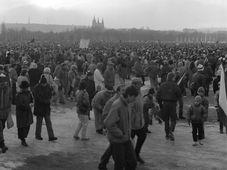 La manifestation sur l'esplanade de Letná, photo: Archives de ČRo