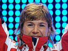 Kateřina Neumannová se zlatou medailí, foto: ČTK