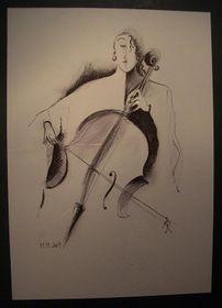 'Violoncelliste', photo: victoire, rajče.net