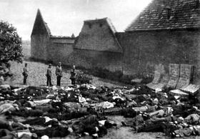 Men had been shot by the Nazis in Lidice