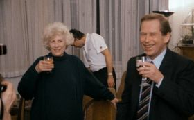 Václav Havel with his first wife Olga, photo: http://citizenvh.cz