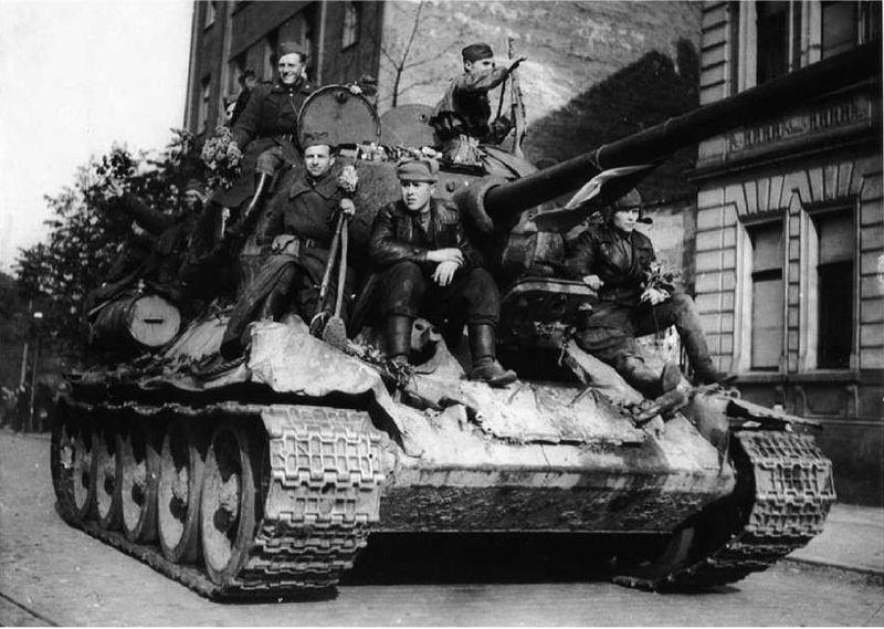 Воины танковой армии П. Рыбалко, foto: Aрхив Вацлава Влка ст.
