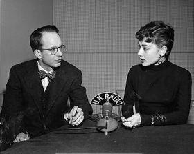 William N. Oatis with Audrey Hepburn in 1953, photo: unmultimedia.org