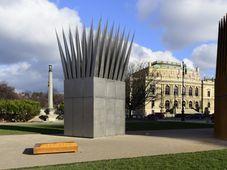 Nuevo monumento recuerda en Praga la inmolación de Jan Palach, foto: ČTK
