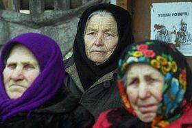 Venkované žijící nedaleko Černobylu, foto: ČTK
