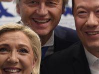 Marine Le Pen, Geert Wilders et Tomio Okamura, photo: ČTK/AP/Ondřej Deml