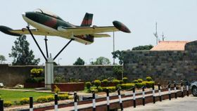 The old Czechoslovak plane displayed outside a military base in Lusaka, photo: Czech Television