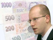 The Czech Finance Minister Bohuslav Sobotka
