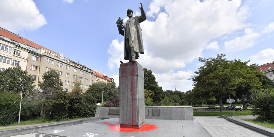 Prague's statue of Soviet Marshal Ivan Konev, photo: ČTK / Vít Šimánek