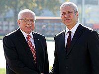 Václav Klaus y Boris Tadić (Foto: CTK)