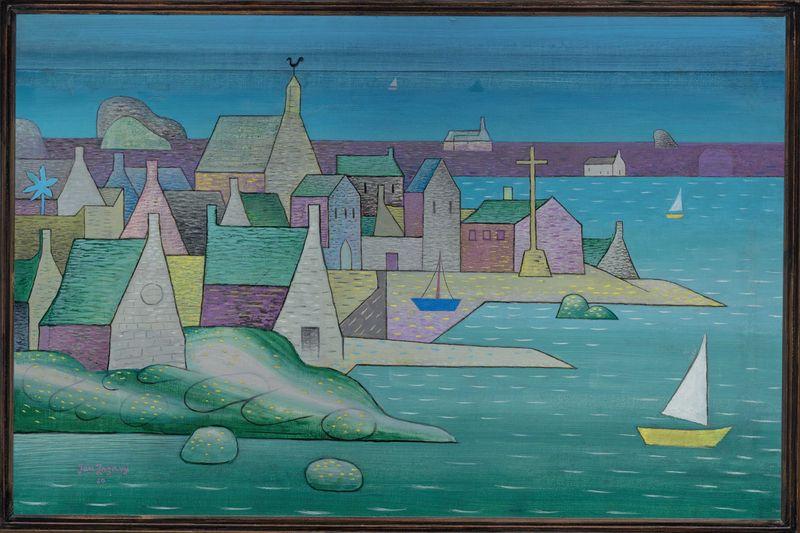 Jan Zrzavý, 'Le port en Bretagne, Ploumanac'h, 1930, photo: Galerie Nationale à Prague