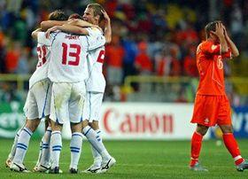 La selección checa derrotó tres a dos a la selección de Holanda (Foto: CTK)