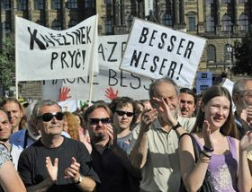 The protest on Wenceslas Square, June 7 2011, photo: CTK