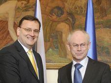 Petr Nečas und Herman van Rompuy (Foto: ČTK)