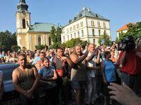 Demonstrace ve Varnsdorfu, foto: ČTK