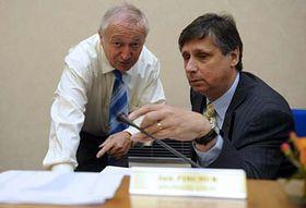 Eduard Janota y Jan Fischer, foto: ČTK