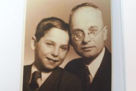 Paul Ort with his father, photo: archive of Paul Ort