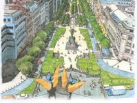 One vision of Wenceslas Square in the future, picture: The Prince of Wales's Project Office
