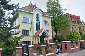 La embajada de Ucrania en Praga