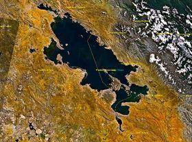 Lago Titicaca, foto: NASA, Public Domain