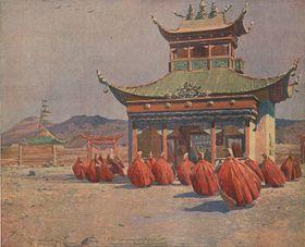 Ламаистская полевая часовня рядом с Мухиню, 1914 (Фото: Либерецкая галерея)