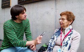 Carlos Ferrerr y Dagmar Lieblová, foto: archivo de Radio Praga