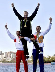 Медалисты по академической гребле (справа Ондржей Сынек), Фото: ЧТК
