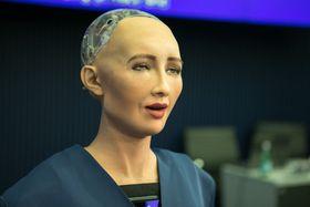 Robot Sophia, photo: ITU Pictures, CC BY 2.0