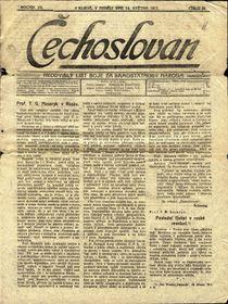 Газета «Чехослован», Киев, май 1917 г., фото: Катерина Айзпурвит