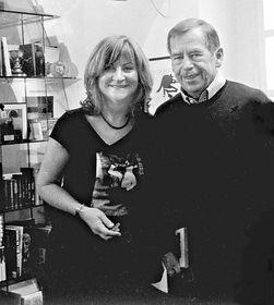 Jarmila Buzková avec Václav Havel