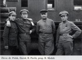 Франтишек Полак (первый слева), фото: ÚSTR