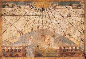 Солнечные часы в пражском Клементинуме