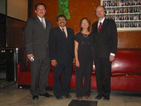 De izquierda: José Dávila, José Rodríguez del Toro, Elza Fujimoto y Radko Tichavský (Foto: autora)