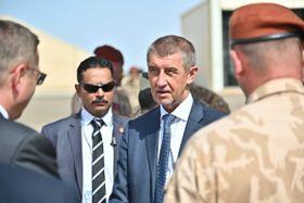 Andrej Babiš en Egipto, foto: archivo del Ejército Checo