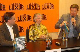 Zleva: Ondřej Kundra, Meda Mládková aJiří Pospíšil, foto: Charlotte Tomešová
