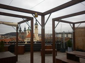 Z terasy vOD Kotva se nabízí unikátní výhled na centrum Prahy, foto: Zdeňka Kuchyňová