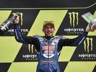 Jakub Kornfeil llegó tercero en la categoría de Moto3, foto: Václav Šálek/ČTK
