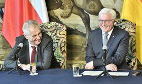 Miloš Zeman und Frank-Walter Steinmeier (Foto: ČTK)